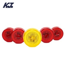 Truck lamp replacement 24V red led round side light for sale