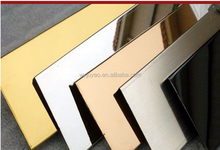 China Alibaba golden mirror finish 304 Stainless Steel Sheet