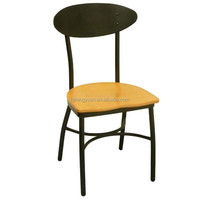 Metal Chair with wood seat in Dining Chair