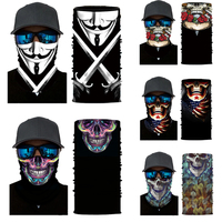 Microfiber Unique Custom Uv Protection Skull Face Mask Bandana
