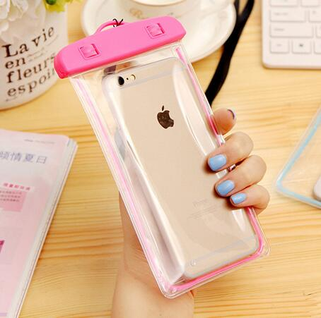 Hot sale clear new material fashion mobile phone PVC waterproof bag