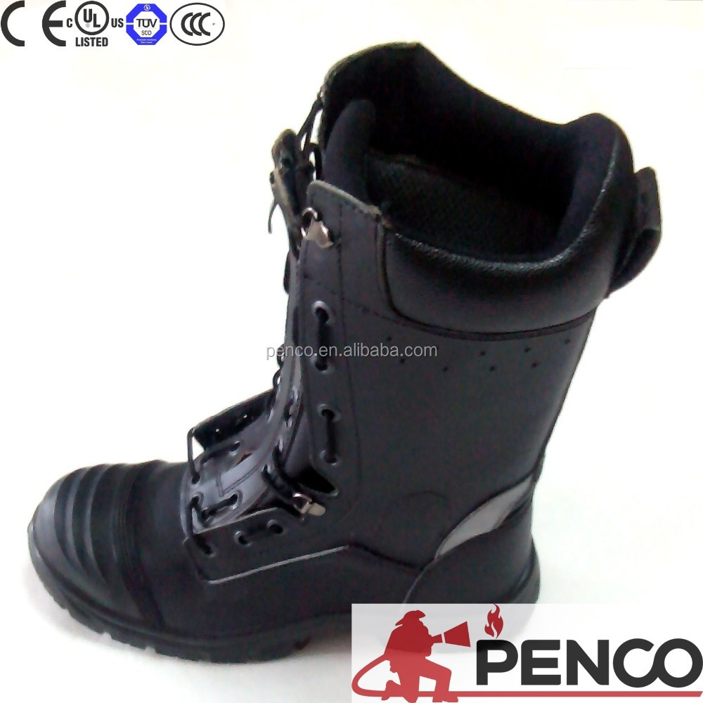 Firefighters fire rescue boots/leather safety shoes