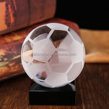 China madufacture supply, sports theme crystal soccer awards k9 crystal football trophies