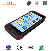 5.0inch industrial terminal rfid reader fingerprint sensor barcode scanner for factory android 4.3 gps smart phone
