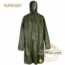 Olive green Military Outdoor Polyester Cheap Raincoat
