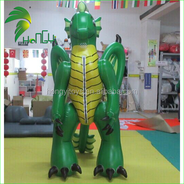 Awesome Inflatable Green Dragon Costume , Inflatable Dragon Clothing For Party