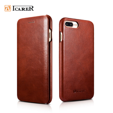 ICARER 2017 Luxury Leather Flip Mobile Phone Case for iPhone 8 8 Plus,Leather Case for iPhone8 8Plus