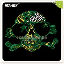 Wholesale Rhinestone Heat Transfers logo Skull Hotfix Rhinestones for Clothes