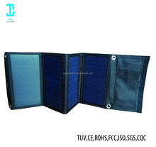 Thin flexible sunpower solar cell portable 24W folding bag charger for mobile
