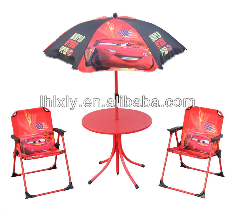 Cars cheap metal kids folding table and chair