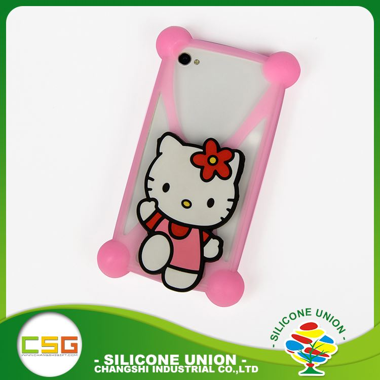 Newest mini cartoon nontoxic silicone 5.5 inch mobile phone case