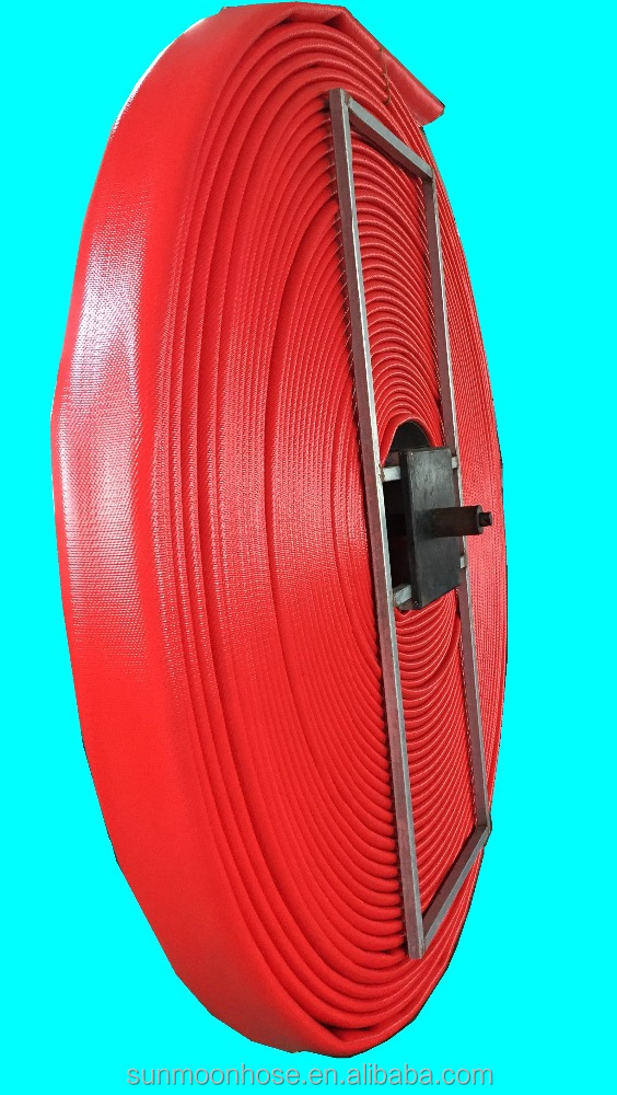 "Heavy Duty 6"" 420 psi inflammble & anti-static fuel /oil TPU flat hose"
