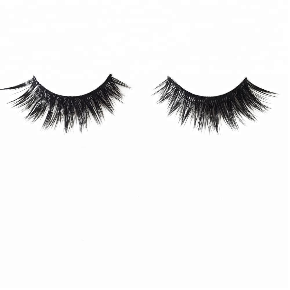 36dc41b1b02 new 100% handmade faux mink fur/silk false eyelash mimic the real 3D mink  fur strip lashes