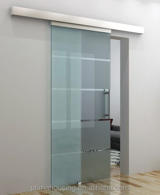 sliding bathroom glass door / sliding frameless tempered glass
