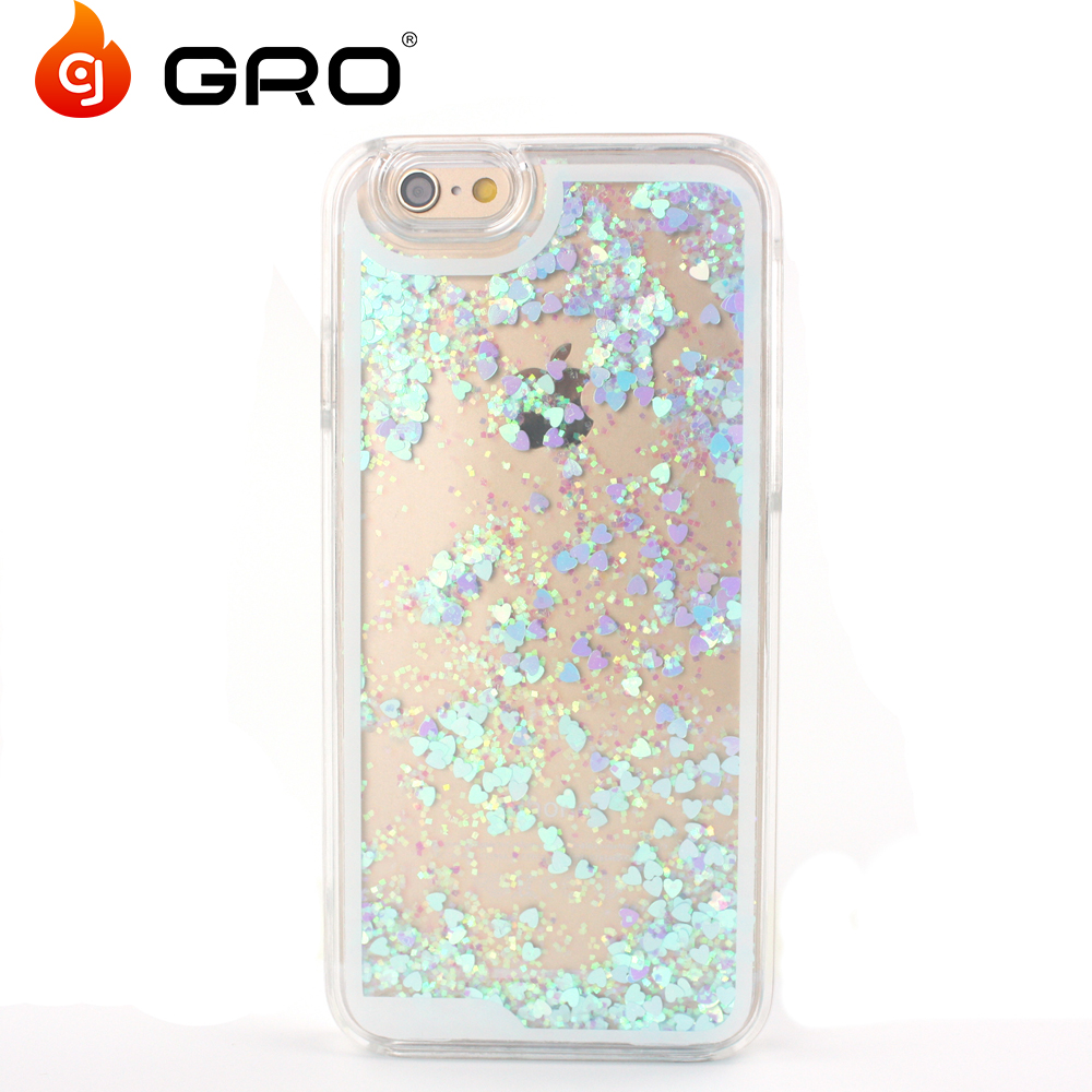 High Quality Bling Glitter Skin PC Liquid Phone Case For Iphone6