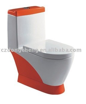 Hot selling single hole colored washdown one piece toilet