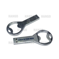 Promotional Silver Iron Metal Bottle Opener USB Stick Memory 2GB 4GB