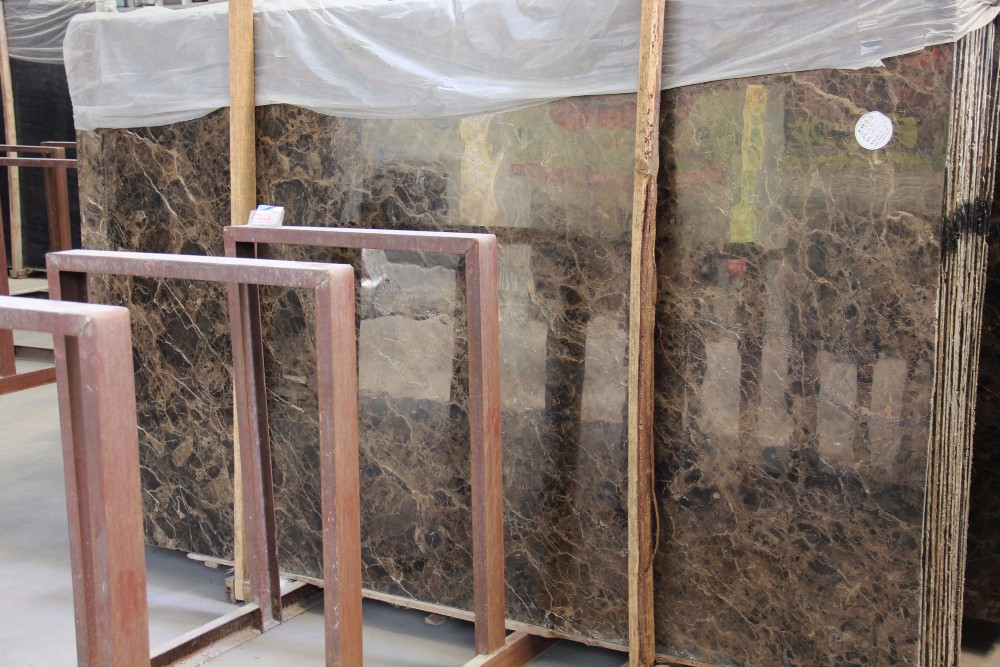 PFM Spanish Dark Emperador Marble Slab For Villa