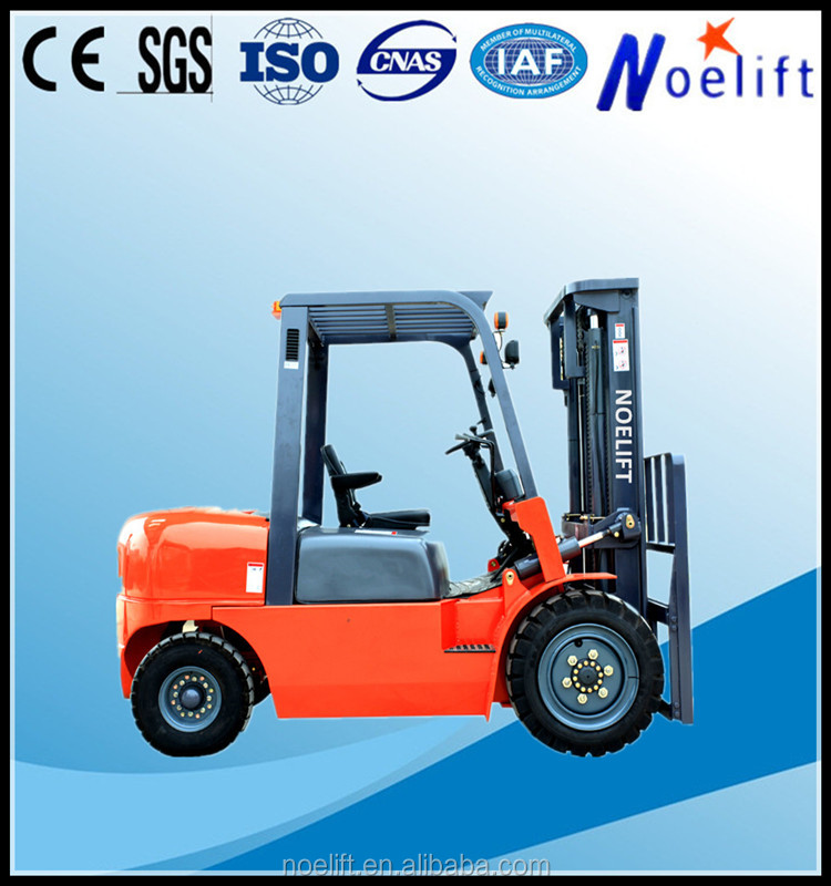 work permit visa tow stage free lifting mast specially designed 4-5ton diesel forklift FD45