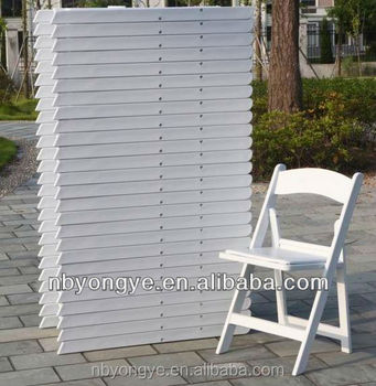 plastic folding white resin chair
