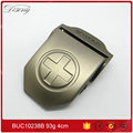 Men's canvas factory wholesale price brush pewter finish belt buckle
