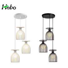 Modern Simple Iron Cup Shape Pendant Lighting Restaurant Interior Hanging Light