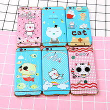 EXW for girls,embossed full cover detachable 3 in 1 cartoon pattern hard PC hybrid phone case for Redmi NOTE 5A Prime