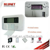 Dual GSM and PSTN quad band 850/900/1800/1900Mhz Anti theft alarm system with GSM alarm