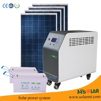 Portable Solar Power Systerm Kits/camping kits solar system 24v 100ah battery