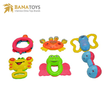 New arrival cartoon baby rattle toys set