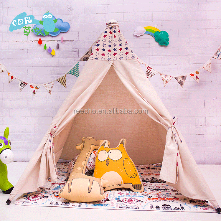 Wholesale Small Canvas Indoor Children Play Luxury Tents For Sale