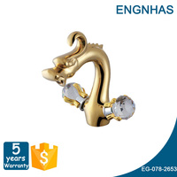 Gold color single lever pvc faucet mixer