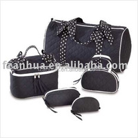 Luxury Black Lady's travel Cosmetic Bag