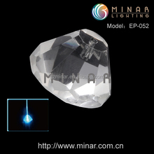 crystal end piece fiber optic lighting for chandelier