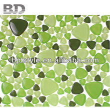 Reasonable Price Glass Pebble glass subway black mosaic tile