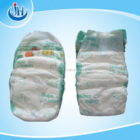 super absorbent Breathable Clothlike Sleepy Baby Diapers with elastic waist band