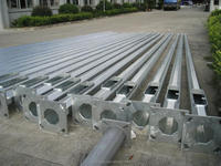 street lamp post steel tubular pole solar light pole