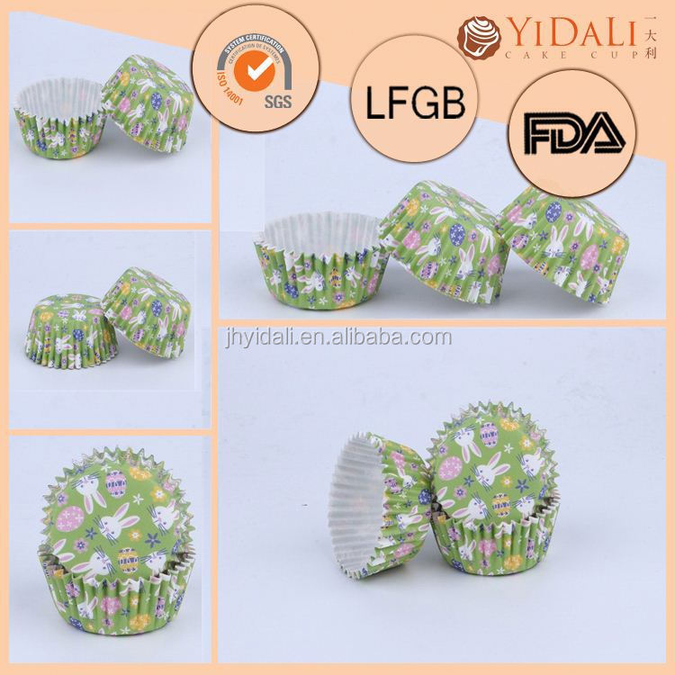 Unique Baking Cup,Craft Paper Muffin Baking Cups,New Products On China Market White Green Tulip Baking Cup