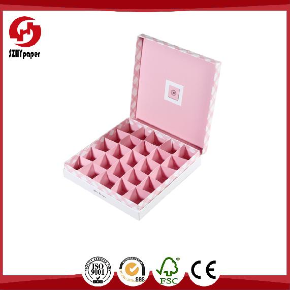 film lamination pink gourmet chocolate box packaging