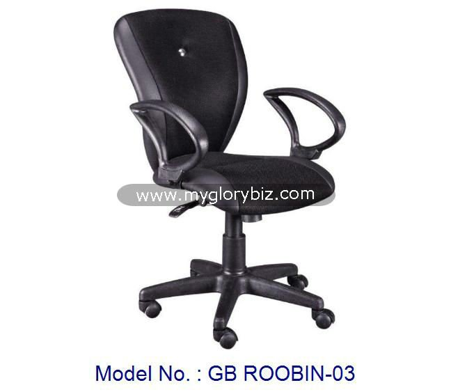 Secretary Office Chair Modern Design Black Furniture, Modern Swivel Chair For Office, Black Commercial Furniture With Wheels