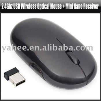 2.4Ghz USB Wireless Optical Mouse + Mini nano receiver,YAN107A