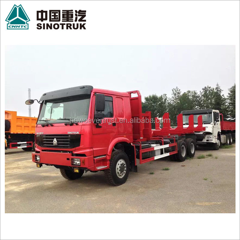 low price 336hp SINOTRUCK SINOTRUK 371hp HOWO trailer head truck head tractor howo logging truck wood transport truck for sale