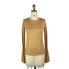 Spring young womens juniors long sleeve mustard yellow thin pullover sweater