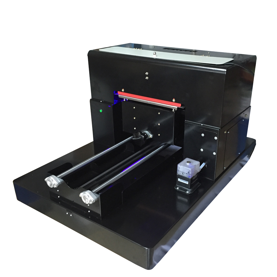 New arrival ! 8 colors A3size UV LED flatbed printer with new original R2000 printhead for phone case leather money bag