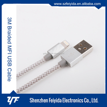 MFI metal magnetic data USB cable 2017 Hot sell!!!