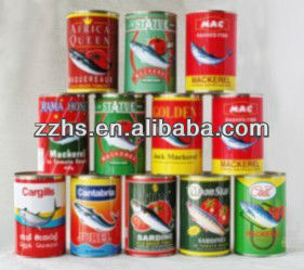 canned mackerel in brine with 425g