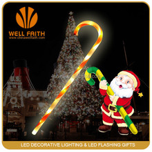 Novelty Factory Price Simple Design Christmas LED Crutch