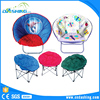 New design and hot selling round adult folding moon chair, flower chair foldable moon chair with cartoon printing