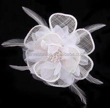 Special Design Chiffon Mesh Flower With Feather,Chiffon Flower For Wedding Invitation