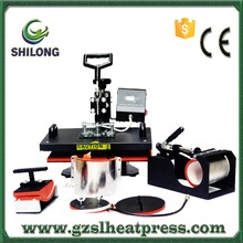 6 in 1 high press used for t shirt mug cap plate cup digital offset heat printing press machine raw materials for sale usa